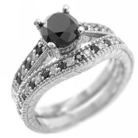 Trendy Black Diamond Engagement Rings 2011