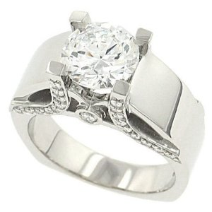 Pave Diamond Engagement Rings